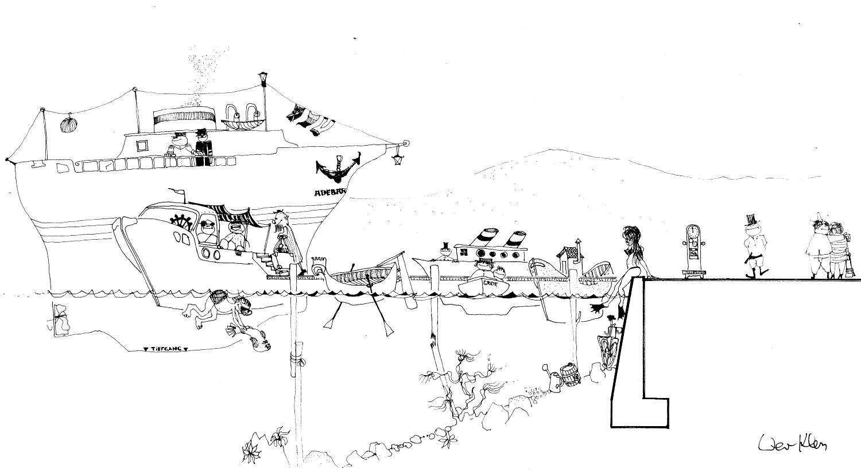 kunst zeichnungen comic bilder in schwarz weiss zum kaufen bildergalerie berlin. Black Bedroom Furniture Sets. Home Design Ideas